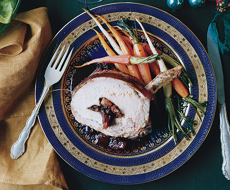 Pork Roast with Winter Fruits and Port Sauce
