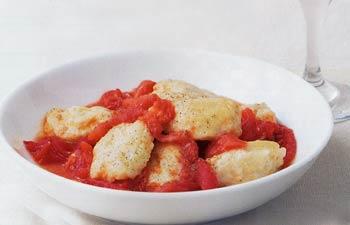 Ricotta Gnocchi with Roasted Tomato