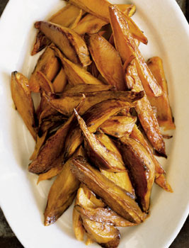 Molasses Horseradish Sweet Potato Spears