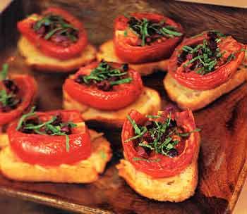 Slow-Roasted Tomato Crostini