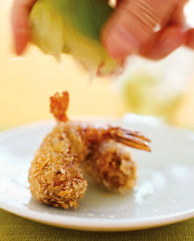"Shrimp and Black-Eyed Pea ""Croquettes"""