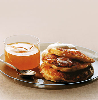 Griddle Cakes with Marmalade and Clotted Cream