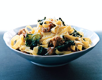 Fettuccine with Sausage and Kale