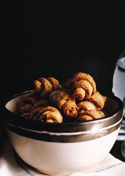 Hazelnut and Olive Rugelach