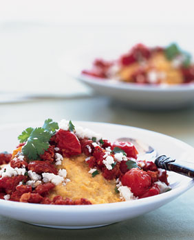 Breakfast Polenta with Chorizo and Queso Fresco