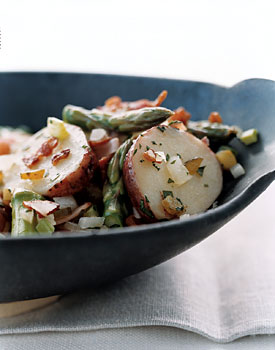 German-Style Potato and Ham Salad