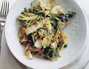 Quick Sauteed Endive, Escarole, and Frisée