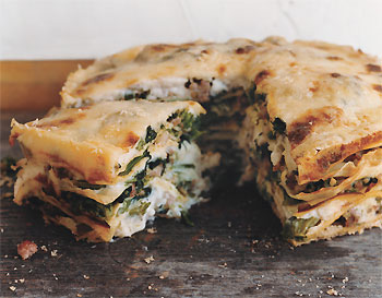 Sausage and Broccoli Rabe Torta