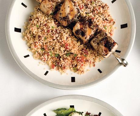 Mahi-Mahi Skewers with Tapenade and Couscous