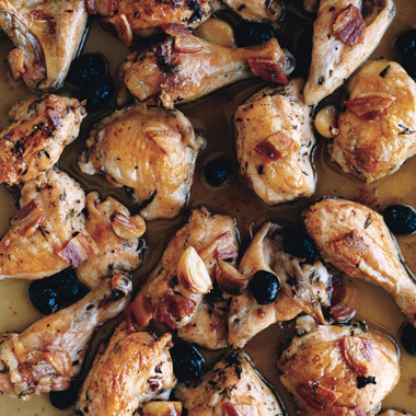 Roast Chicken with Pancetta and Olives