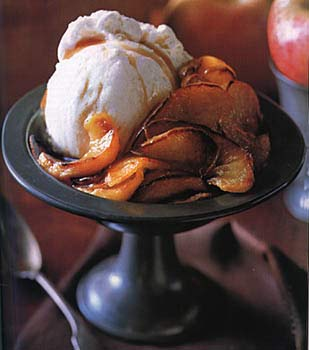 Broiled Apples with Maple Calvados Sauce