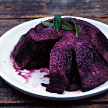 Summer Pudding with Blueberries and Raspberries