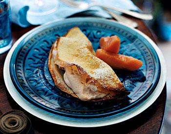 Quince Calvados Crêpe Souffles
