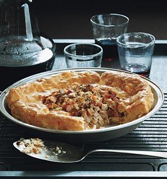 Turkey Cream Puff Pie
