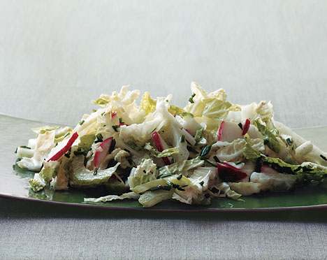 Napa Cabbage Salad with Buttermilk Dressing