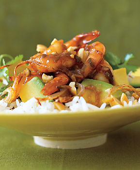 Shrimp and Avocado in Tamarind Sauce