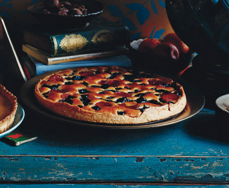Prune, Cherry, and Apricot Frangipane Tart