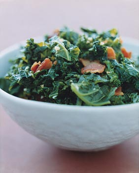 Kale with Garlic and Bacon