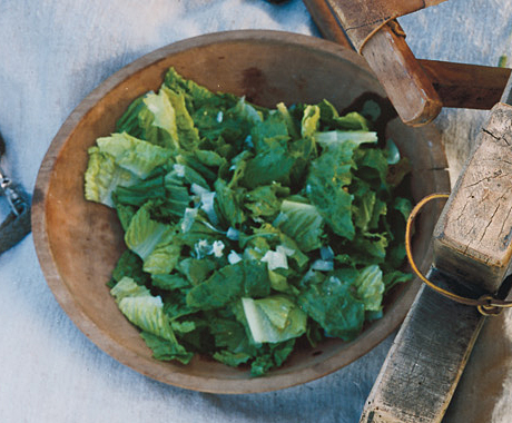 Romaine Salad with Anchovy Dressing and Parmesan