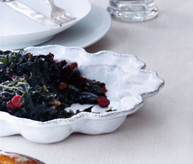 Kale with Garlic and Cranberries