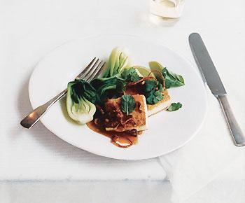 Panfried Tofu with Asian Caramel Sauce