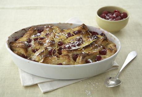 Lemon-Raspberry French Toast Strata