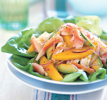 Crab, Mango, and Avocado Salad with Citrus Dressing