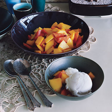 Guanabana Sherbet with Tropical Fruit