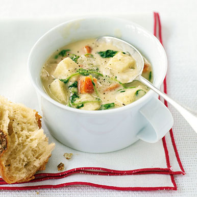 Parsnip, Yam, and Watercress Chowder