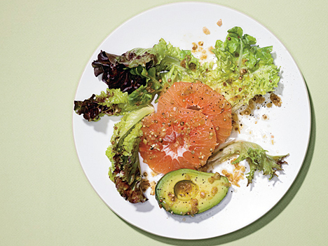 Avocado and Pink Grapefruit Salad with Coriander