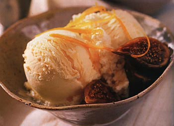 Sherry Crema Catalana Ice Cream with Honeyed Figs
