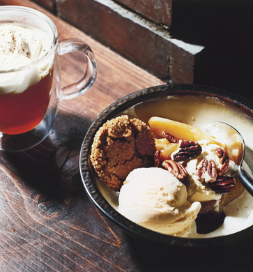 Honey-Caramel Ice Cream Sundaes with Apples