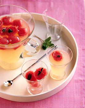 Watermelon-Mint Ice Cubes
