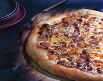 Gorgonzola and Grape Pizza