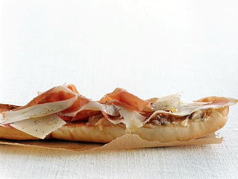 Ham, Manchego, and Fig Tartines