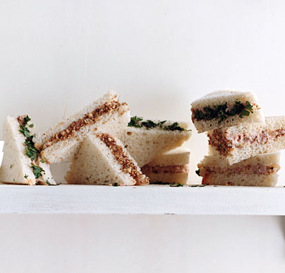 Deviled Ham and Pecan Tea Sandwiches