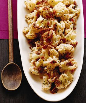 Cauliflower with Serrano Ham and Tomato