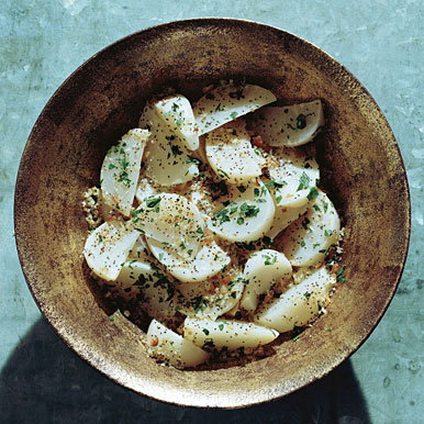 Braised Turnips with Poppy-Seed Bread Crumbs