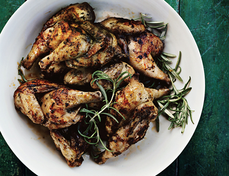 Grilled Herbed Poussins