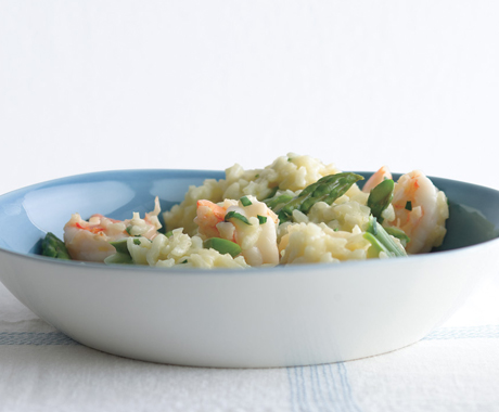 Lemony Risotto with Asparagus and Shrimp
