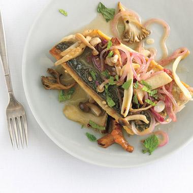 Minted Mackerel and Mushroom Escabeche