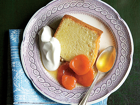 Pound Cake with Grand Marnier-Poached Apricots