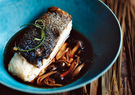Black Cod with Mushrooms and Sansho Pepper
