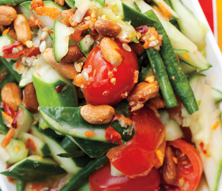 Long Bean, Cucumber, and Tomato Salad