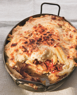 Moroccan-Spiced Pastitsio with Lamb and Feta