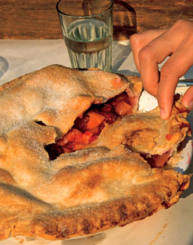 Double-Crust Nectarine Raspberry Pies