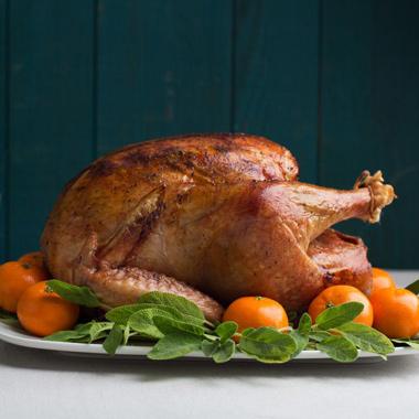 Citrus-Sage Roast Turkey with Gravy: Large Crowd