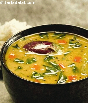 Methi Leaves Sambhar RecipeTastyfix