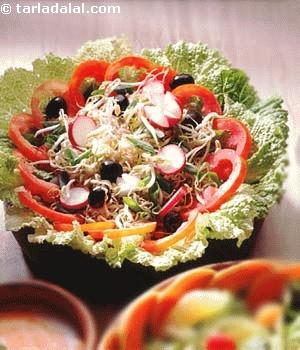 Bean Sprouts and Radish Salad