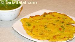 Besan Chila ( Microwave Recipe )